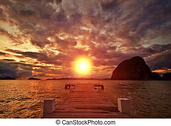 Un jetty Sunset