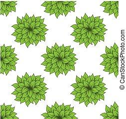 Un juego de arbustos verdes