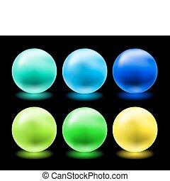 Un juego de bolas de cristal