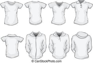 Un juego de camisas femeninas