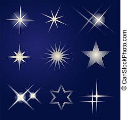 Un juego de estrellas brillantes