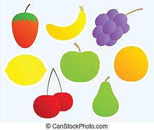 Un juego de frutas