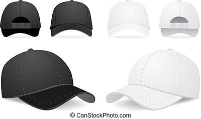 Un juego de gorra de béisbol