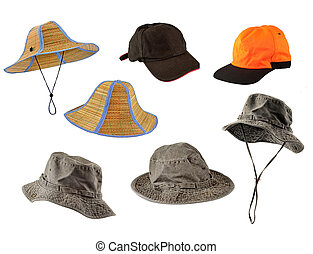 Un juego de gorras y sombreros