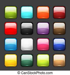 Un juego de iconos brillantes para tu diseño