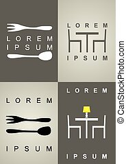 Un juego de iconos para el restaurante.
