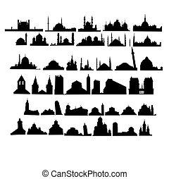 Un juego de iglesias y mezquitas