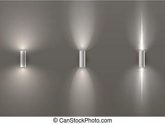 Un juego de lámparas de pared