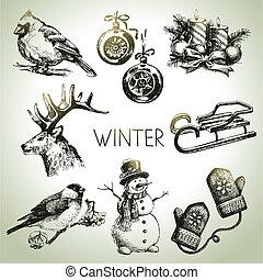 Un juego de Navidad de invierno