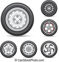 Un juego de neumáticos