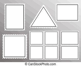 Un juego de sellos en blanco
