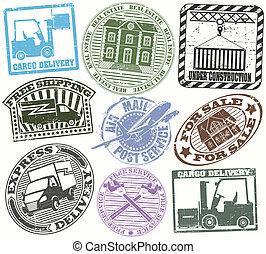 Un juego de sellos