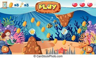 Un juego de sirenas bajo el océano