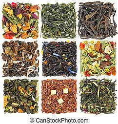 Un juego de té con aditivos