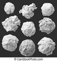 Un juego de textura de papel blanco y arrugado