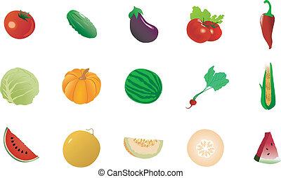 Un juego de vegetales