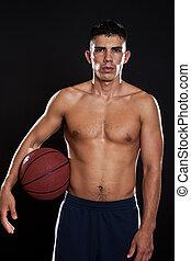 Un jugador hispano de baloncesto