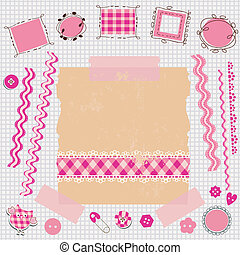 Un kit de álbumes rosas