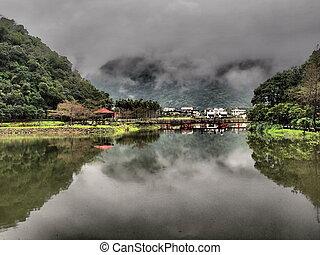 Un lago tranquilo