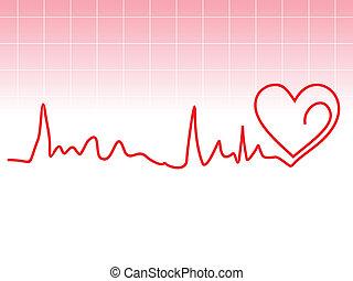 Un latido cardíaco abstracto