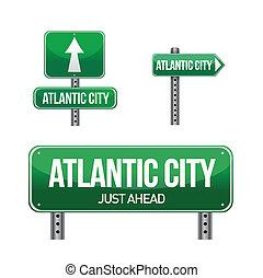 Un letrero de Atlantic City
