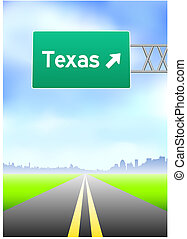 Un letrero de Texas