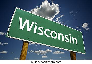 Un letrero de Wisconsin