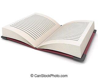 Un libro abierto tridimensional