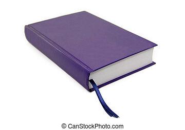 Un libro azul aislado