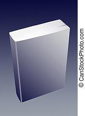 Un libro blanco y sencillo de papel con una cubierta simple, para el diseño