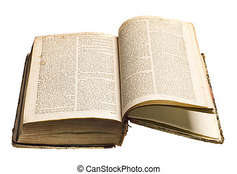 Un libro de antigüedades aislado