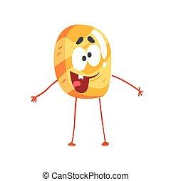 Un lindo personaje de panqueques, dibujos animados divertidos vector de postres de ilustración