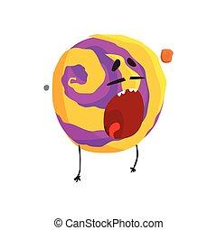 Un lindo personaje humano de Venus, una esfera con cara graciosa vector de ilustración vectorial