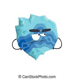 Un lindo personaje humano del planeta Neptuno, una esfera con cara graciosa vector de ilustración vectorial