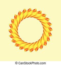 Un logotipo estilizado del sol
