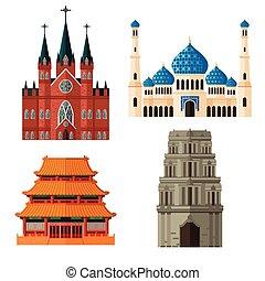 Un lugar de culto para diferentes religiones