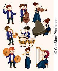 Un músico de orquesta