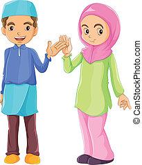 Un macho y una hembra musulmán