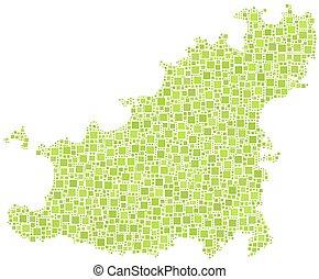 Un mapa aislado de Guernsey