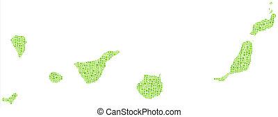 Un mapa aislado de las islas canarias