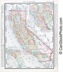 Un mapa anticoloro de California, Estados Unidos