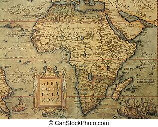 Un mapa antiguo de África