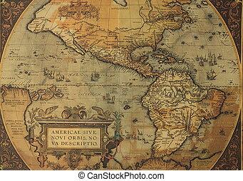 Un mapa antiguo de América