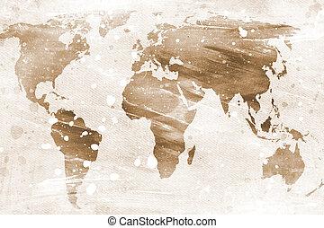 Un mapa antiguo del mundo