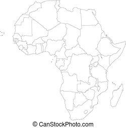 Un mapa de África