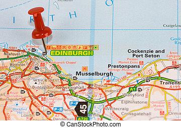 Un mapa de la calle Edimburgo
