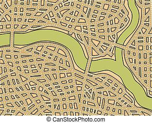 Un mapa de la calle en blanco