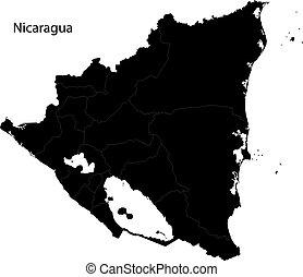 Un mapa de nicaragua negra