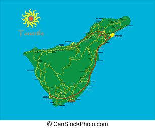 Un mapa de Tenerife