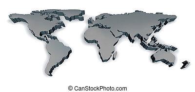 Un mapa de tres dimensiones